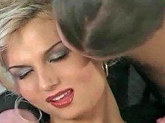 Posh Blonde Ladyboy Seduces Teen