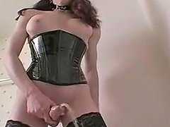 Hottest Homemade Shemale Video With Lingerie...