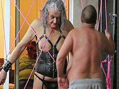 Ronni Gets Spider Webbed By Master R Part 1...
