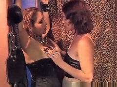 Caged Slave Jacks Off While A She Male Mastix...