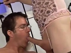 Hottest Amateur Shemale Clip With Stockings...