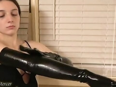 Naughty Masseuse Massages Her Insides With Both...